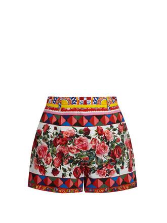 shorts cotton print pink