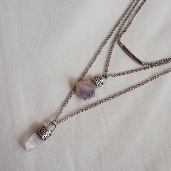 jewels rocks crystal crystal pendant necklace celtic boho vintage saline raw gemstone gemstone raw crystal