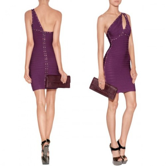 dress sexy dress purple dress bodycon