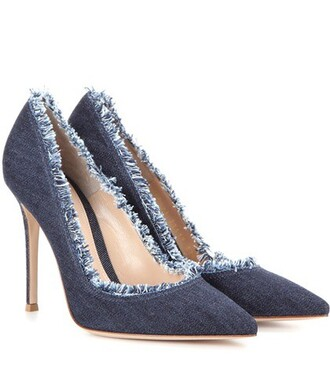 denim pumps blue shoes