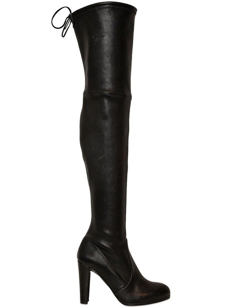 STUART WEITZMAN 90mm Highland Stretch Nappa Boots in black