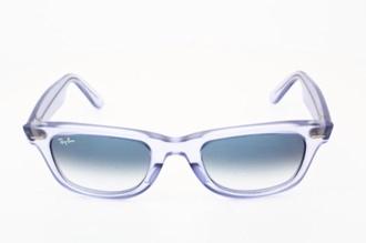 sunglasses clear clear ray-ban wayfarer