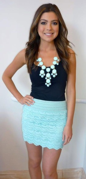 mint skirt mint skirt cute blue crochet