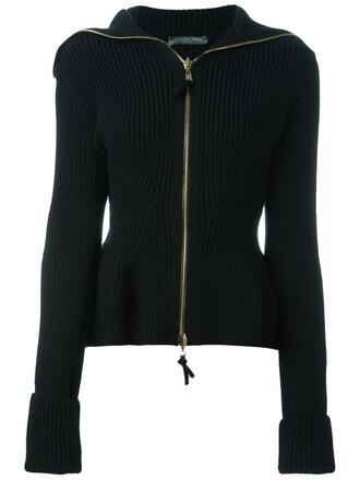 jacket peplum jacket knit black