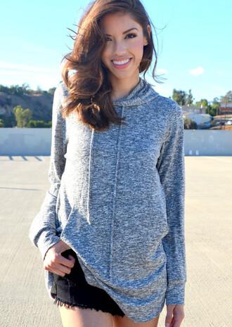 sweater hoodie grey grey sweater gray hoodie gray oversized sweater oversized hoodie