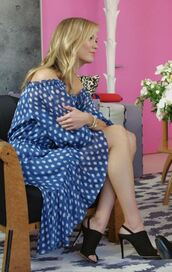 dress,polka dots,midi dress,karlie kloss,sandals,sandal heels,shoes
