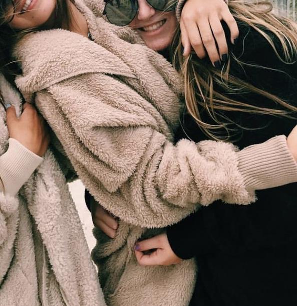 coat brown fluffy