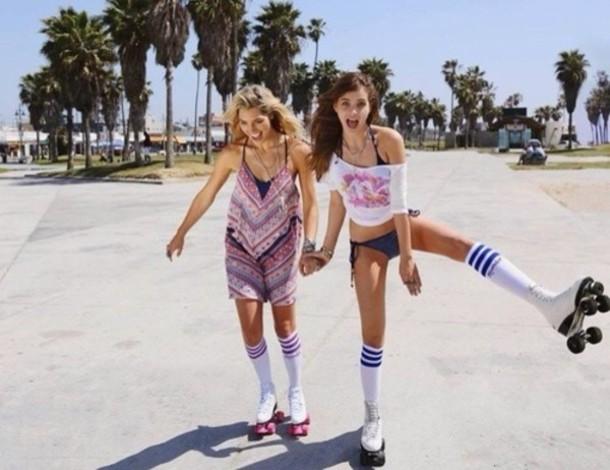 underwear socks summer girl high socks blue stripes knee high socks - Stripe Knee-High Sock American Apparel