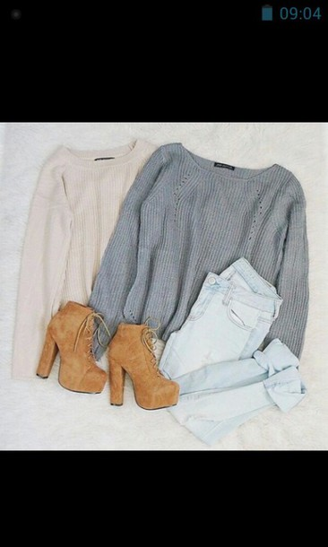 sweater shoes beige