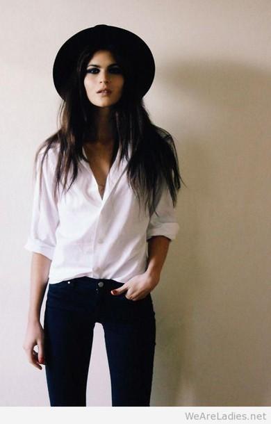 cardigan women shirt jeans hat