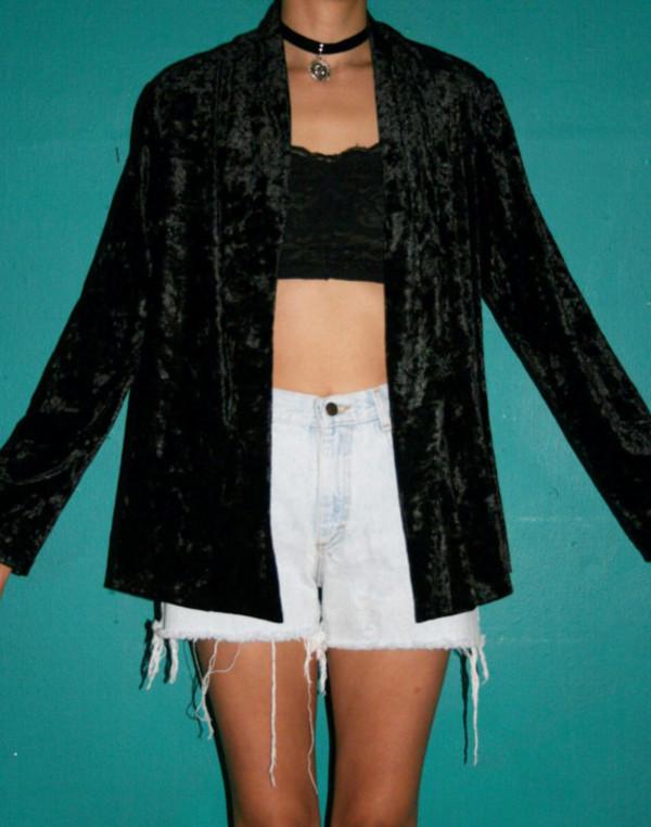 jacket velvet velvet cardigan
