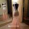 Niceoo dresses | sexy sheath column round neck floor length tulle prom dresses