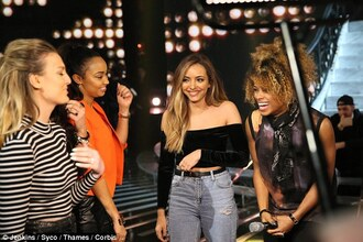 blouse jade thirlwall jeans off the shoulder