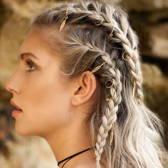hair accessory hair rings hairstyles blonde hair braid