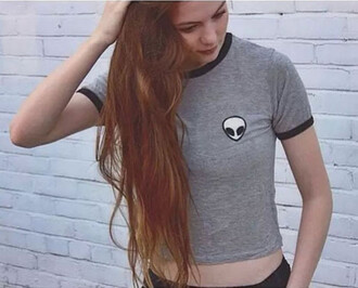 top hipster grunge alien tumblr it girl shop instagram shirt