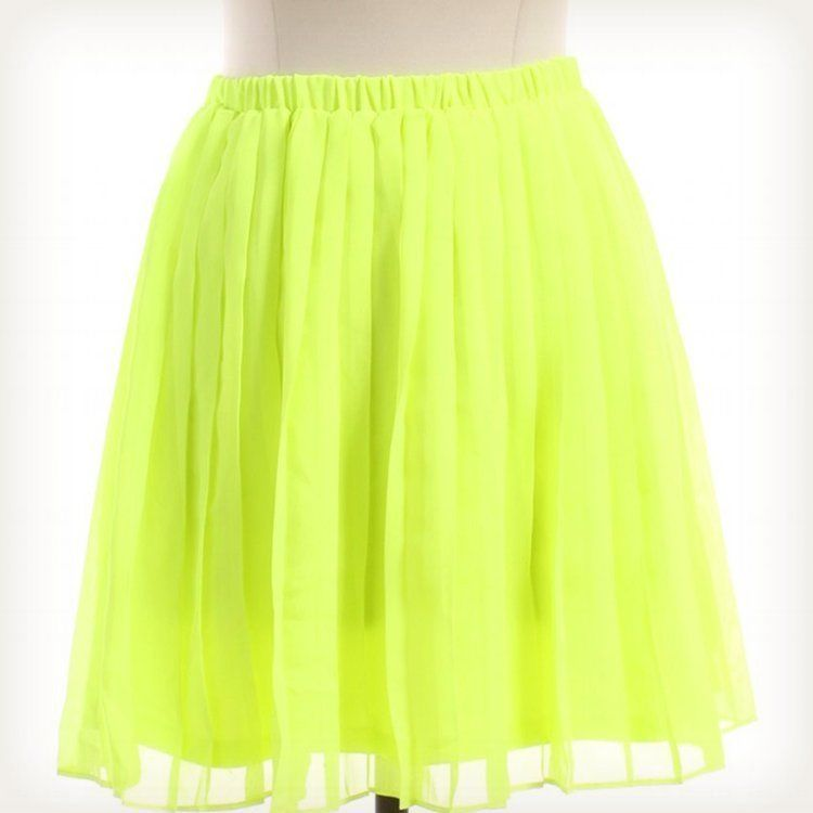 Sparkle Fade by Urban Outfitters Neon Green Skirt Sz M A Line | eBay