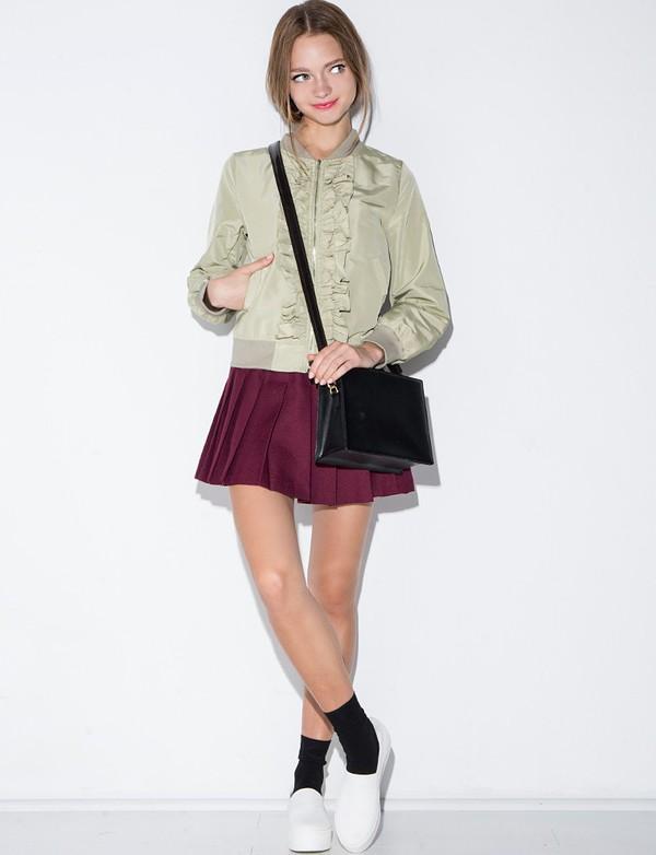 Jacket Bomber Jacket Embroidered Jacket Green Jacket Daily Find Ootd Nanda Style Pixie