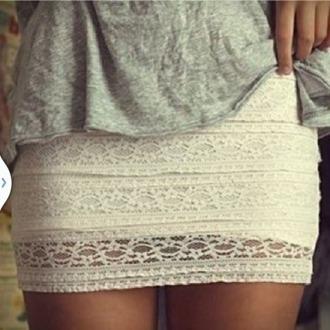 skirt miniskirt dentelle dentelleskirt cute cute skirt summer summerskirt white whiteskirt