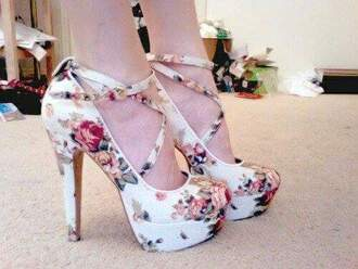 shoes high floral heels strappy adorable. amazing