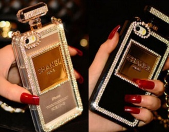 phone cover chanel chanel phone case iphone chanel cover black clear gold perfume bottle case iphone cover