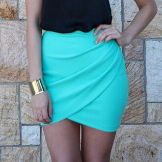 wrap skirts wrapoverskirt draped skirt neon skirt bodycon skirt set nice bodycon navy tight turquoise mini skirt casual black black top turquoise skirt wrap skirt blue skirt