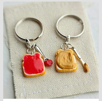 funny home decor food keychain