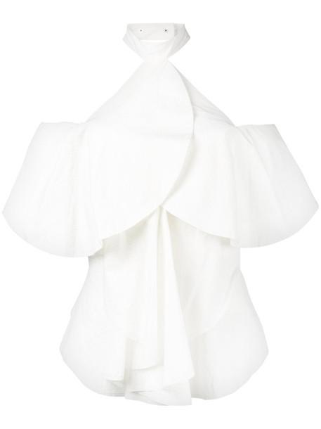 KITX blouse women cold white cotton top