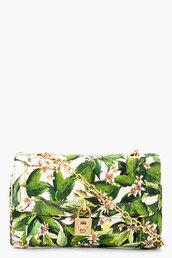 bag,dolce and gabbana,green floral shoulder bag,shoulder bag