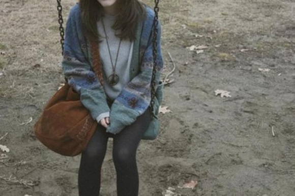 adorable cardigan fall outfits grunge cold must have pale jacket retro bag sweater grunge tumblr