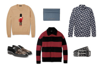 shirt fashion menswear young men samueljing burberry fall outfits classy formal heart sweater striped shirt