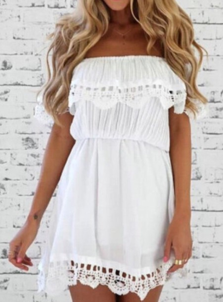 dress white cute dress summer dress white dress