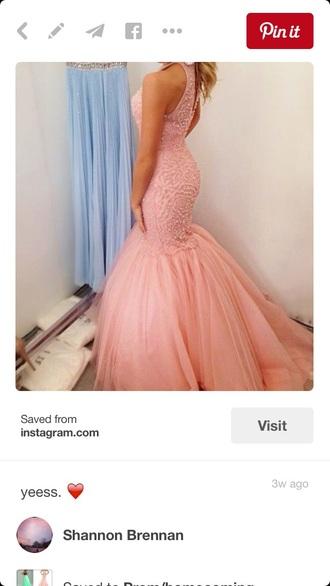 dress mermaid prom dress salmon