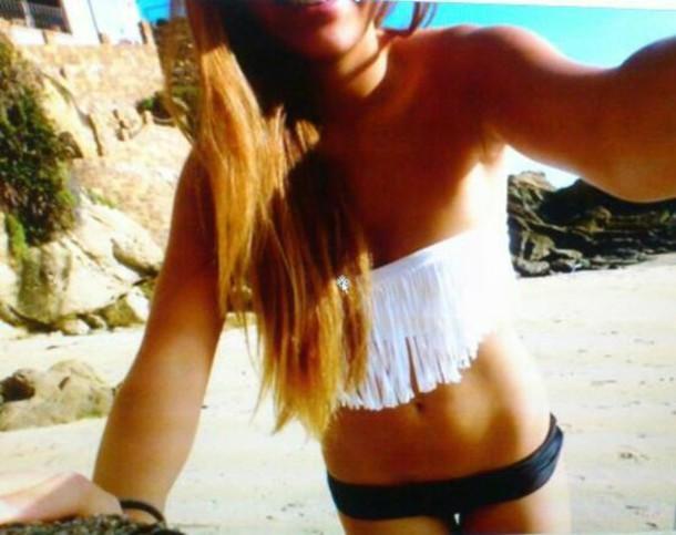 swimwear maillot de bain white black