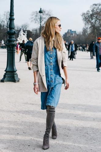 dress paris jeans fashion week 2016 manequin thigh high boots suede boots over knee boots over knees suede boots boots over knee