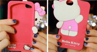 bag cute phone cover iphone case iphone 5 case hello kitty