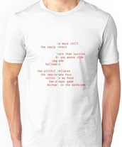 shirt,musical,white,be more chill,t-shirt