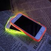 phone cover,fluorescent color,iphone cover,light,bright,yellow,orange,neon