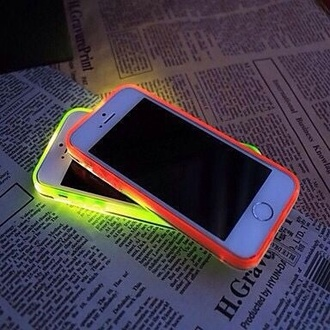 phone cover fluorescent color iphone cover cover iphone 4s red yellow light night neon case neon bright iphone case home accessory phone glow in the dark iphone 6 case