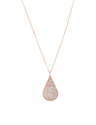 long necklace long rose gold rose necklace gold jewels