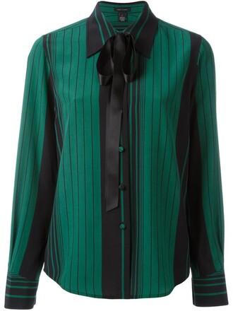 shirt bow green top