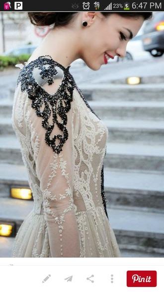 dress gown beaded pretty prom dress black nude