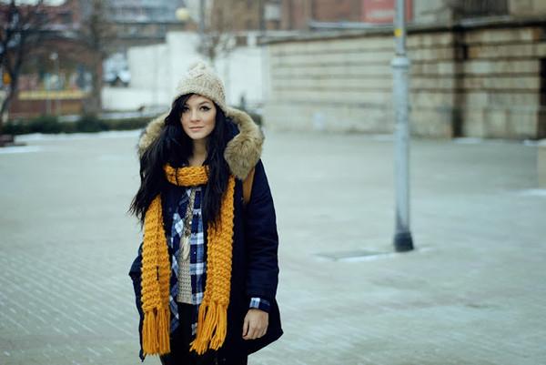 i am sony shirt scarf pants sweater jewels coat shoes hat