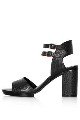 Risk two part heeled sandals