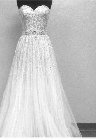 dress tulle wedding dress wedding dress sparkle sparkle dress silver sequin dress strapless wedding dresses