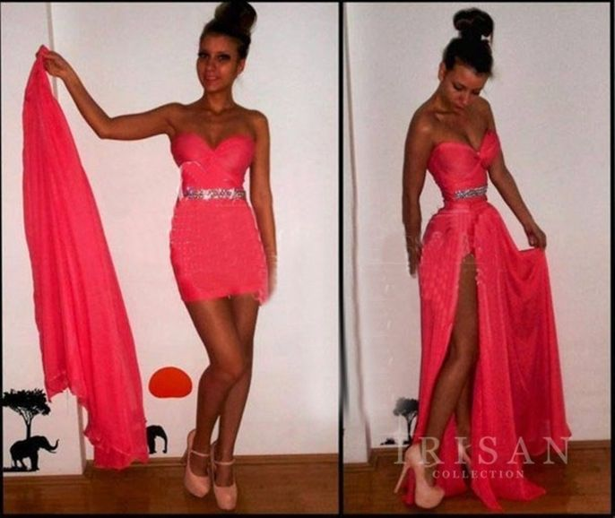 New long chiffon evening formal cocktail party ball gown prom bridesmaid dress