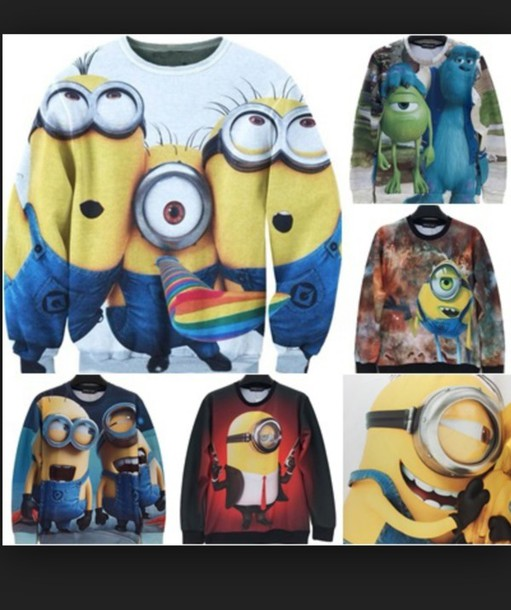 sweater disney sweater minions