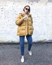 jacket,puffer jacket,knitwear,jeans,mules,sunglasses