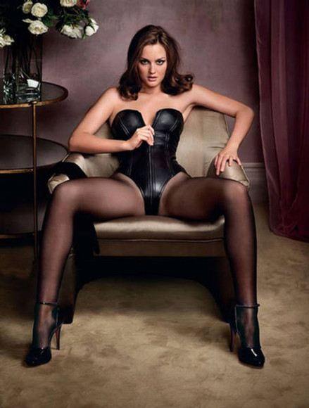 body underwear leighton meester lingerie leather