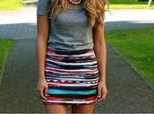 skirt,aztec,aztec skirt,patterned skirt,pattern