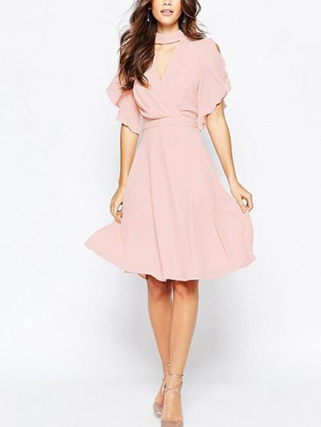 1167711c3991 dress mynystyle pink pastel vintage summer dress classy flowy All pink  outfit